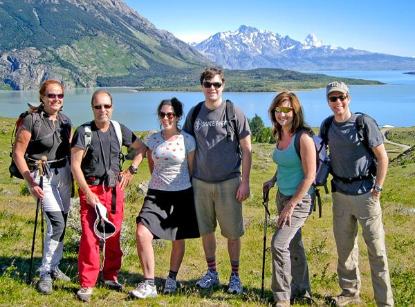 Trekking to Laguna Azul. Mariniella & Claudio, Molly & Aaron, and Bev & Carl. Los Glaciares National Park, Patagonia, Argentina