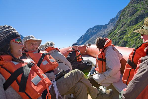 Zodiac boat ride on Lake Viedma