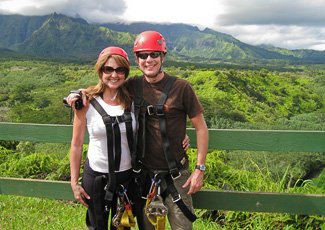 Bev & Carl about to zipline