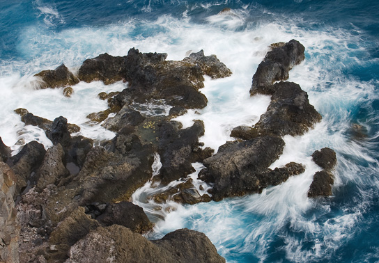 Southeastern coastline along the Hana Highway - Photo © Carl Amoth