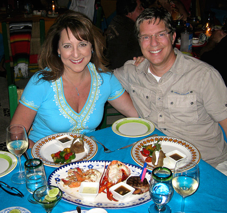 "Enjoying an incredible meal at ""Edith's."" Cabo San Lucas, Mexico"