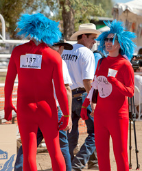 Thing 1 and Thing 2 - Running of the Bulls Participants