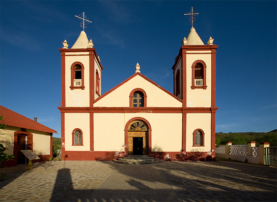 The mission church in the old mining town of El Triunfo.