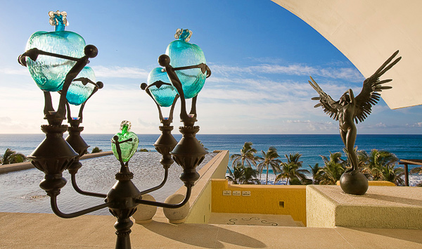 Looking into the Sea of Cortez from the lobby of the Marquis Los Cabos