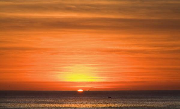 Sunrise over the Sea of Cortez. Cabo, Mexico