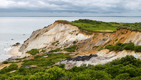 Located on the less-populated western end of Martha's Vineyard, the Aquinnah Cliffs are a sacred spot of the Wampanoag [Native American] people