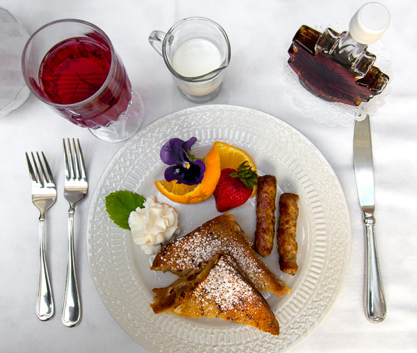 Banana-stuffed French toast, and more at Captain Farris B&B, Hyannis, MA