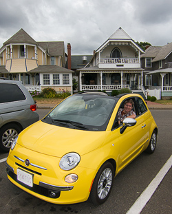 Tooling around The Vineyard in this new FIAT 500C Convertible
