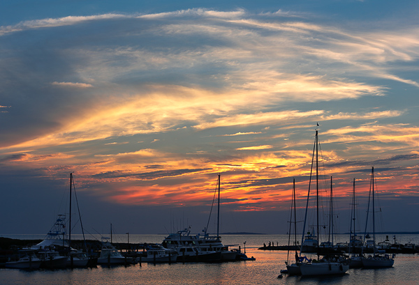 Harbor sunset at Menemsha Bight, Martha's Vineyard
