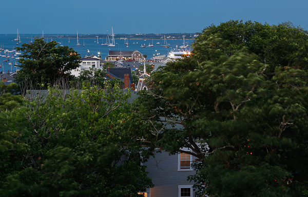 Rooftop view from the Jared Coffin House, Nantucket