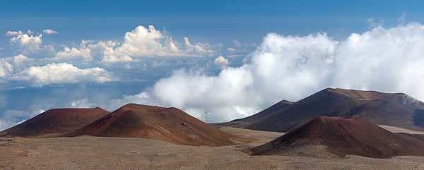 View from the summit of the tallest mountain in the world, Mauna Kea, Hawaii. It's 33,500 ft when measured from the ocean floor. © Carl Amoth