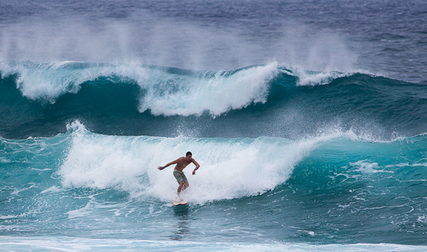 Surfer near Ho'okipa Beach. © Carl Amoth
