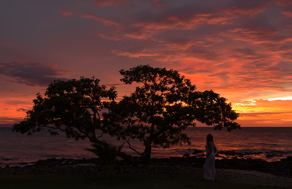 Ahhhh... that classic Maui sunset... just a few steps from our door. Wailea Beach Marriott Resort & Spa. © Carl Amoth