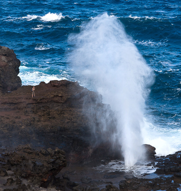 Nakalele Blowhole, along the Kahekili Highway on Maui's northwest coastline. © Carl Amoth