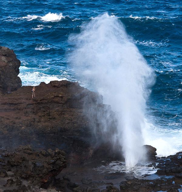 Nakalele Blowhole, along the Kahekili Highway on Maui's northwest coastline. © Carl Amoth