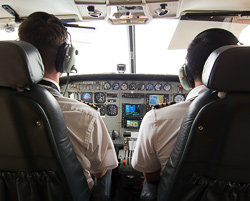 View from our seat. Mokulele Airline